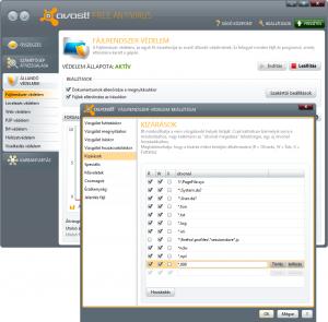 Avast! Free Antivirus beállítása