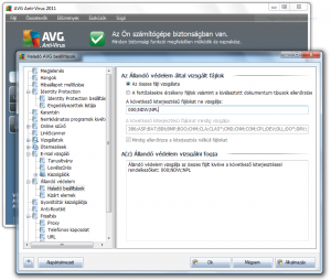 AVG Anti-Virus 2011 beállítása