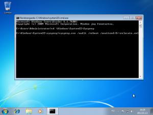 XML script futtatása