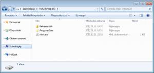 Felhasználók és ProgramData mappa a D: meghajtón