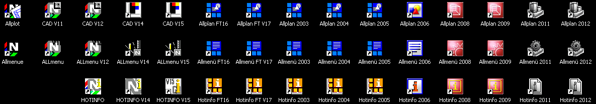 Allplan verziók