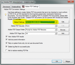 pdfa adobe PDF printer