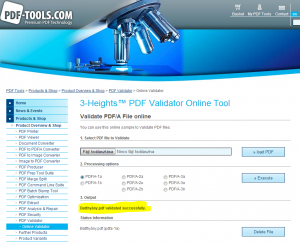 pdftools pdfa validator